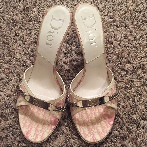 dior pink sandals