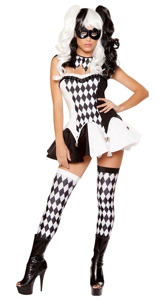 be8814c0705f6 Click to Buy << Adult Women Mardi Gras Jester Costume Party Wear ...