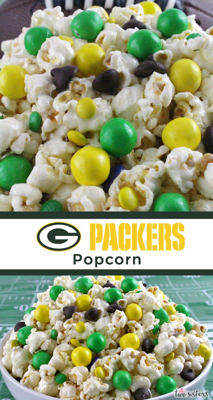 Green Bay Packers Popcorn Recipe Football food