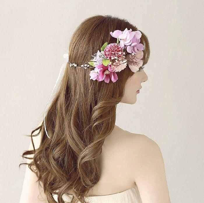 髪飾りヘッドドレス/ヘアアクセサリー/花/花輪/フラワー/ウェディング/