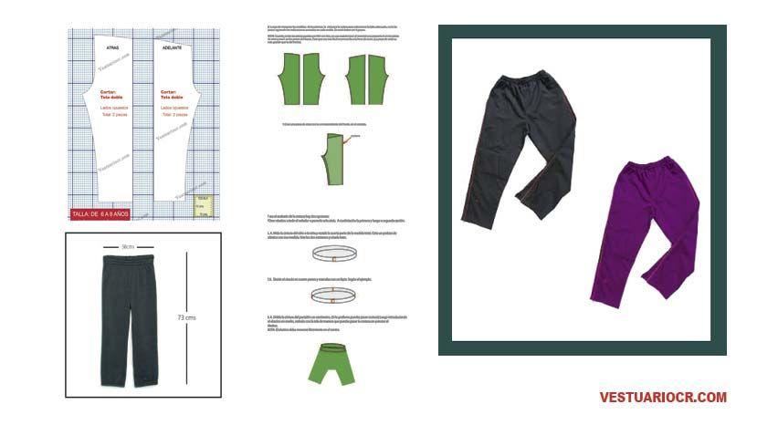 Moldes de costura para ropa de niños | Patrones ropa infantil ...