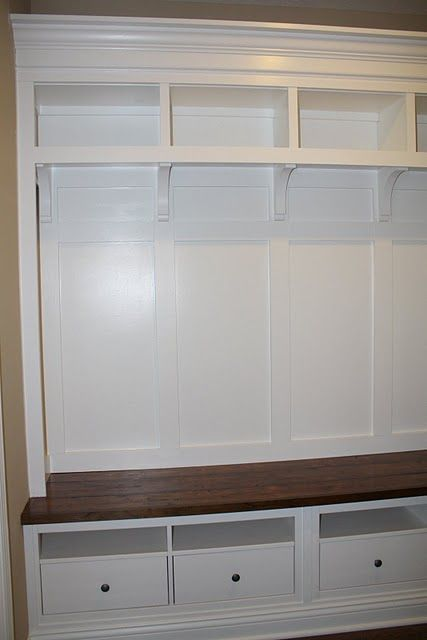 Mudroom Bench And Storage Unit In Our Mudroom Will Be Rustic