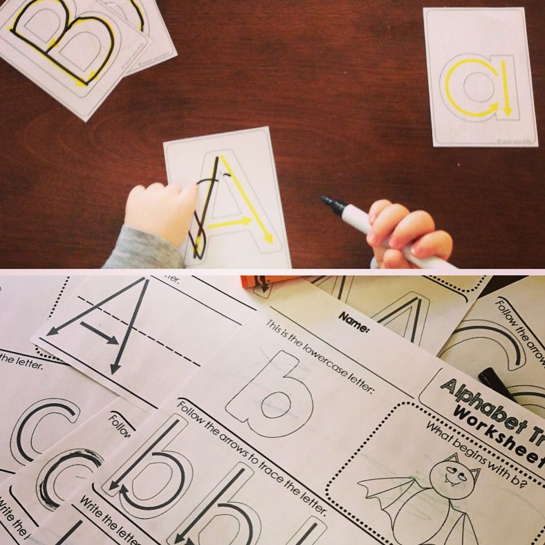Alphabet Practice Letter Formation Tracing Cards And