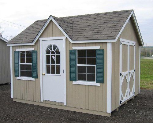 Classic Wood Cottage 8 Ft X 12 Ft By Little Cottage Co Http Www Amazon Com Dp B006jjl1ja Ref Cm Sw R P Building A Shed Wood Shed Kits Build A Playhouse