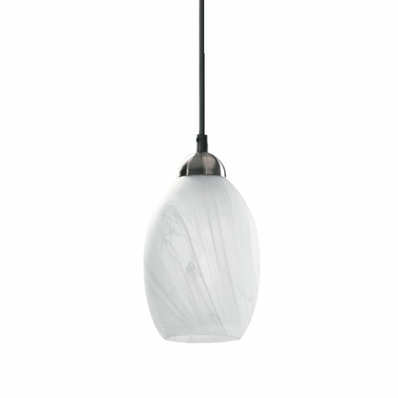 Quorum International Q1740 Glass 1 Light Mini Pendant Satin Nickel