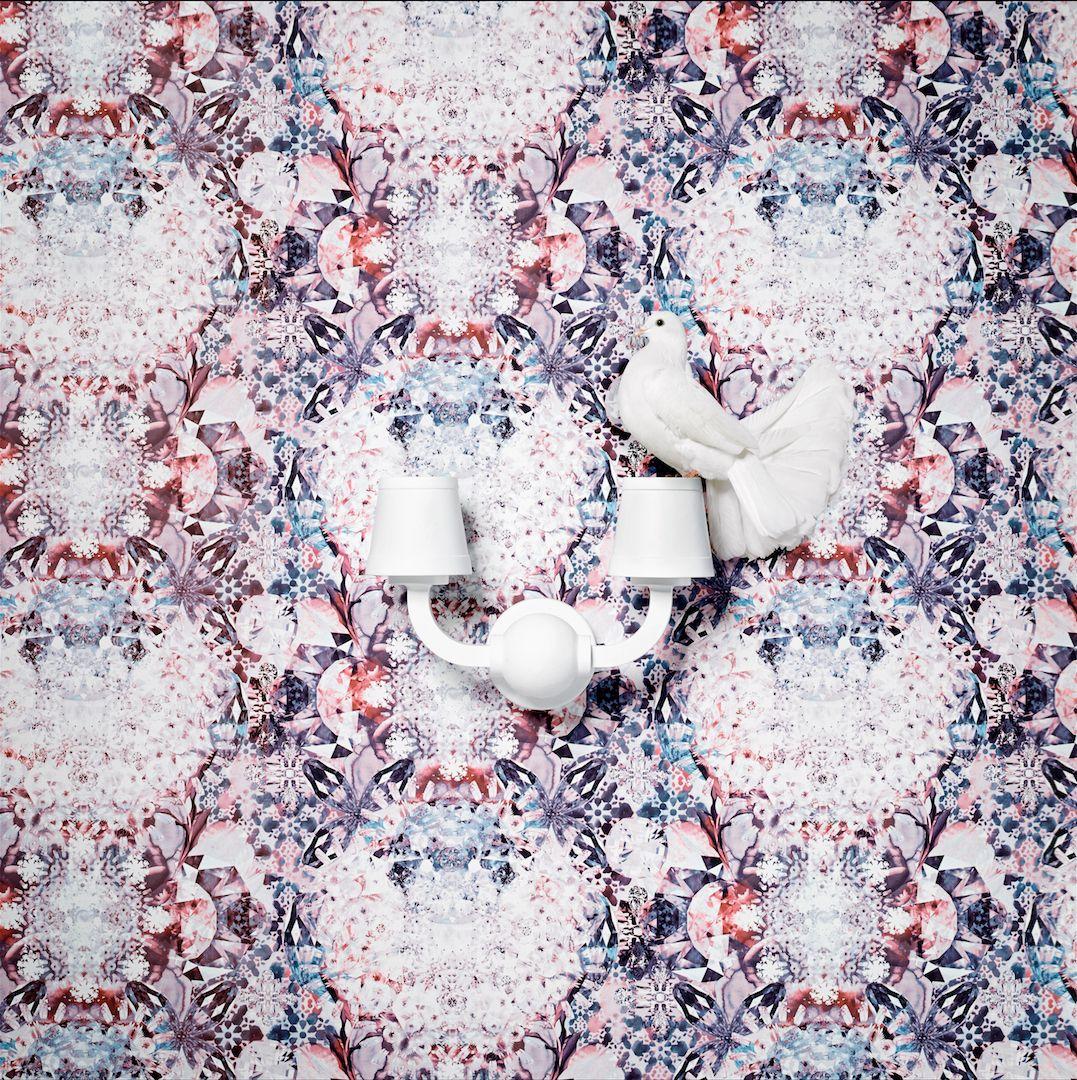 Wanders blue wanders forest flocked wallpaper damask wallpaper - Behang Wallpaper Collection Neo Royal By Marcel Wanders Bn