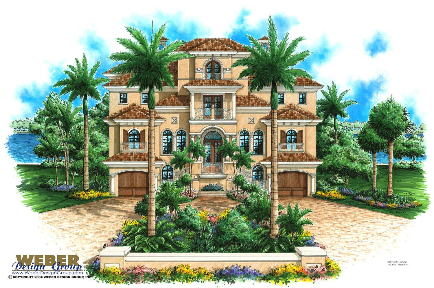 mediterranean beach house plans