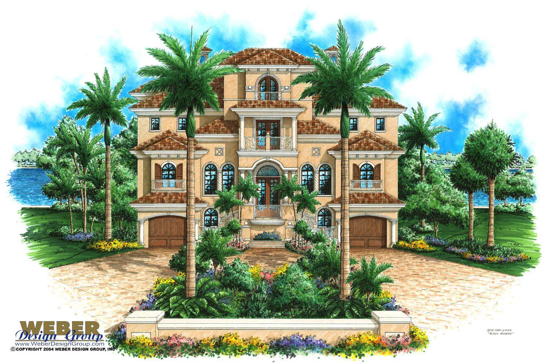 Mediterranean House Plan Mediterranean Tuscan Beach Home Floor Plan Mediterranean Style House Plans Coastal House Plans Beach House Plans