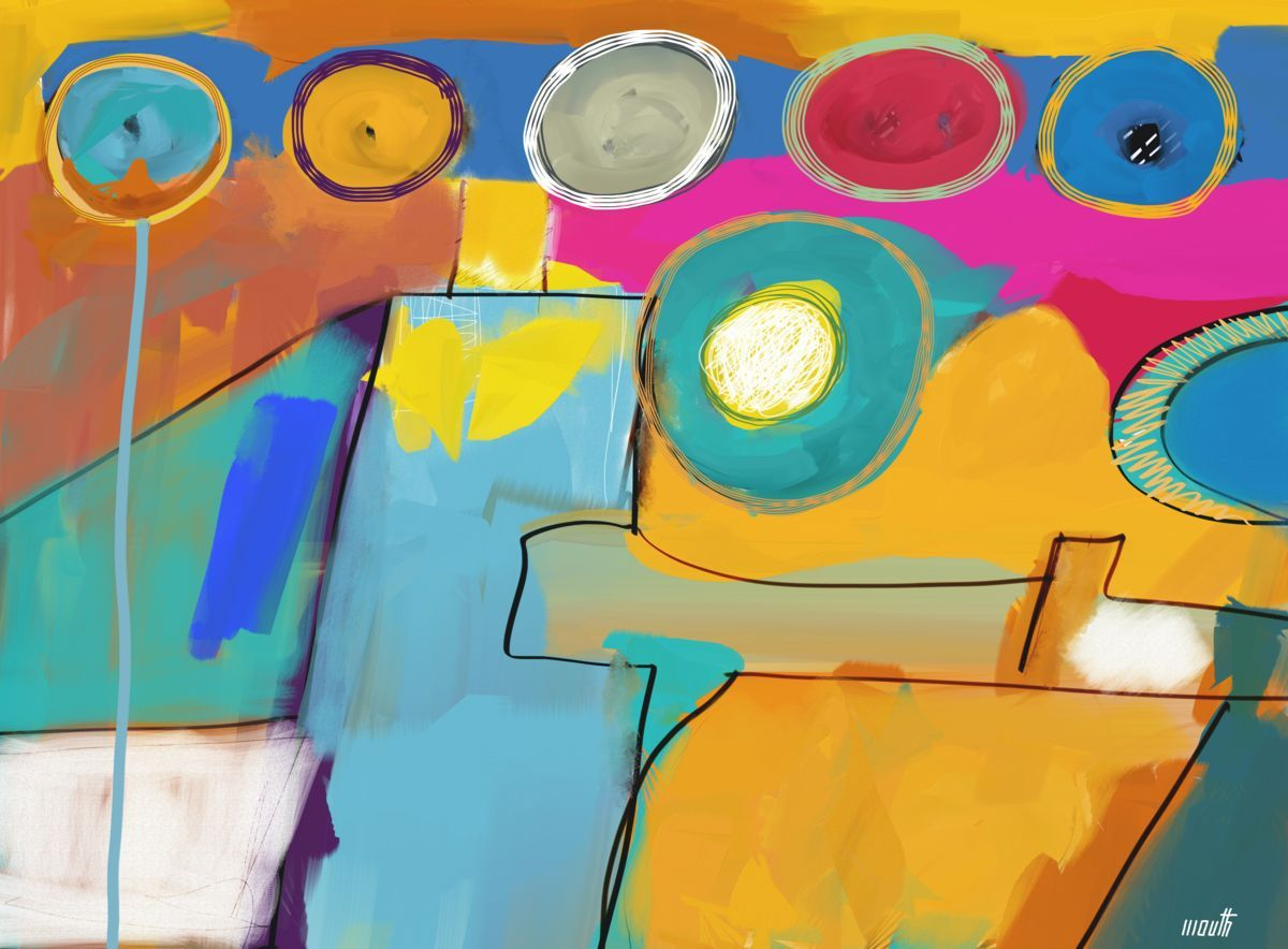 Swimming Pool (Arts numériques) par Patric Mouth Peinture numérique - 10 000 x 7367 pixels - 2540 dpi