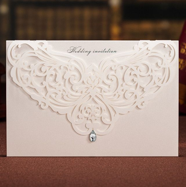 Posted by Fulvia Morabito  elegant laser cut wedding invitations EWWS022 as low as $2.09 |