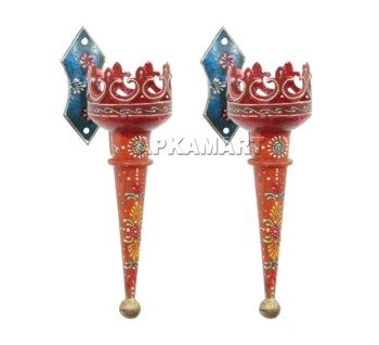 Buy Decorative Masks Online India Traditional Torch  Mashaal  Handicraft  Handpainted  Wall