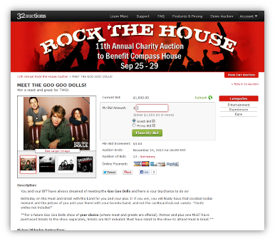 32 Auctions Free Site Allowing Online Auction Hosting Silent Auction Auction Charity Auction
