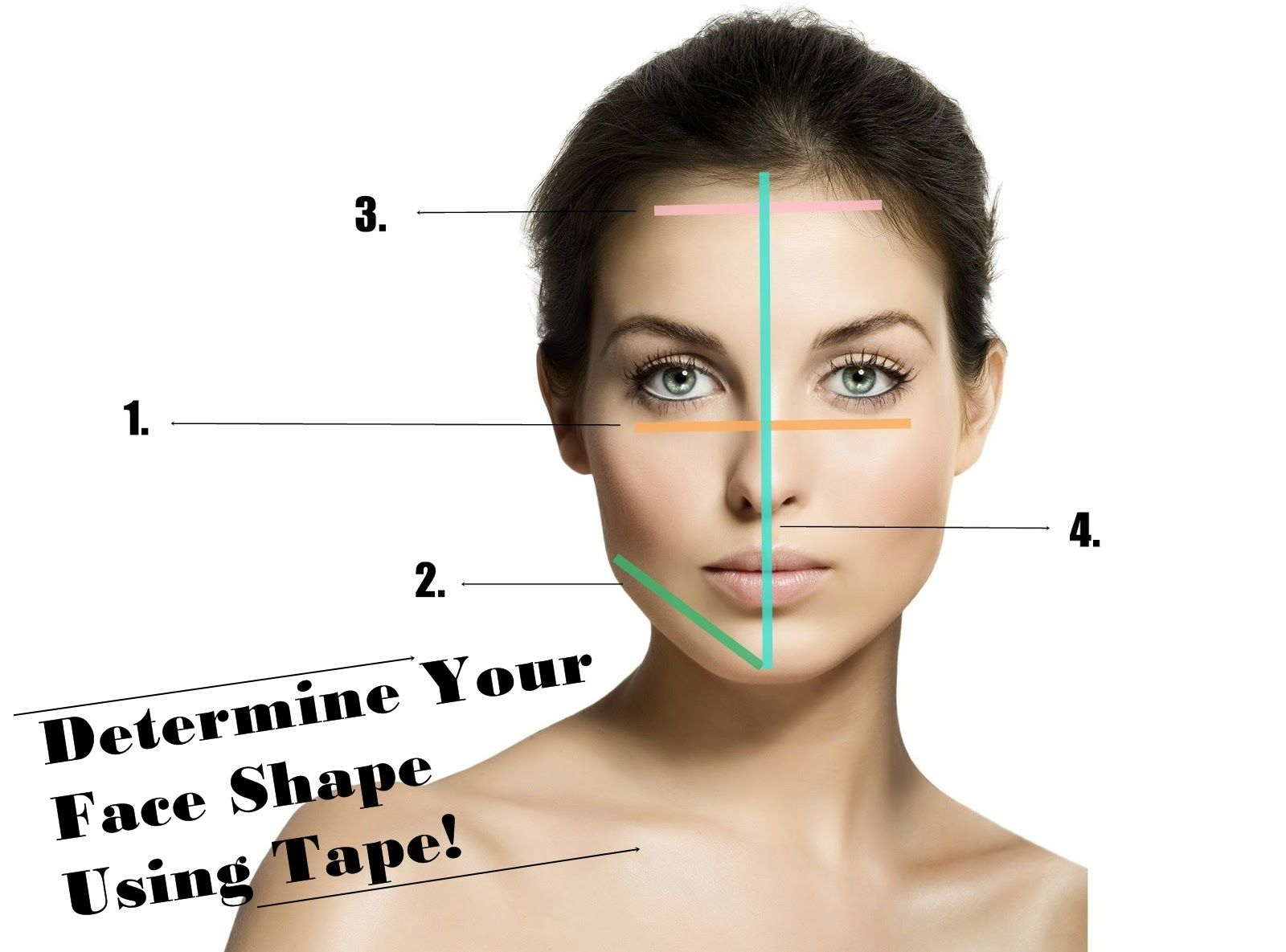 How to choose a hair style oval face type - Vanity Case Box How To Determine Your Face Shape Using Tape