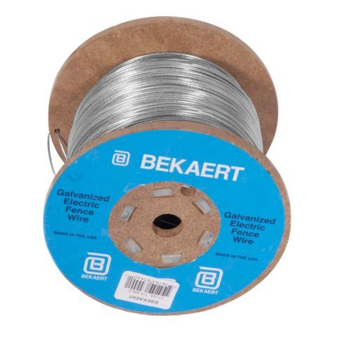 Bekaert 14 Gauge Galvanized Electric Fence Wire, 1/2 Mile