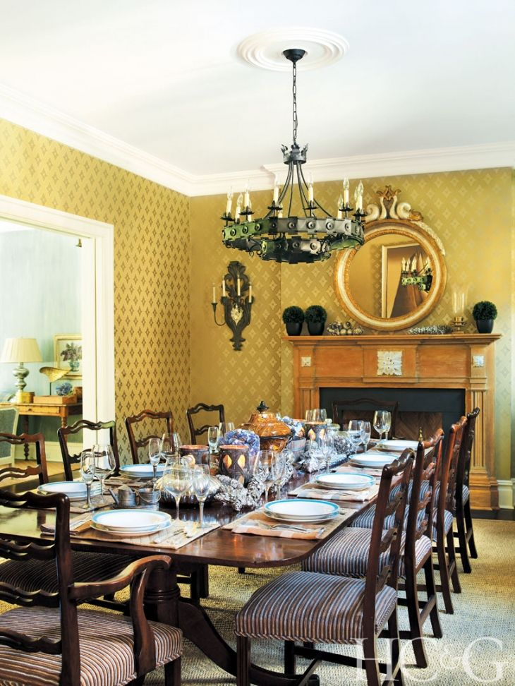 In The Formal Dining Room A Circa 1820 Georgian Table Is Surrounded By