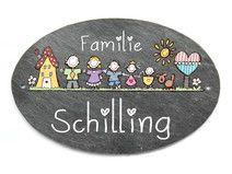 OVAL Türschild Hausnummer HAPPY FAMILY XXL