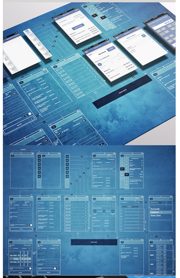 Wireframe blueprint mapping gui great ui collection mobile ui malvernweather Choice Image