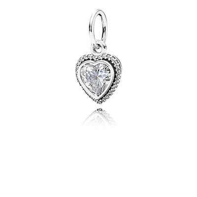 A beautiful cubic zirconia heart is the main event on this a beautiful cubic zirconia heart is the main event on this spectacular sterling silver pendant aloadofball Image collections