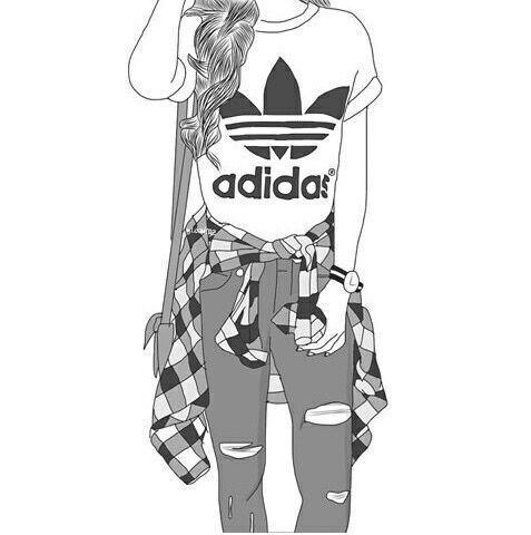 cute outfits with adidas shoes tumblr girls cartoons 639955