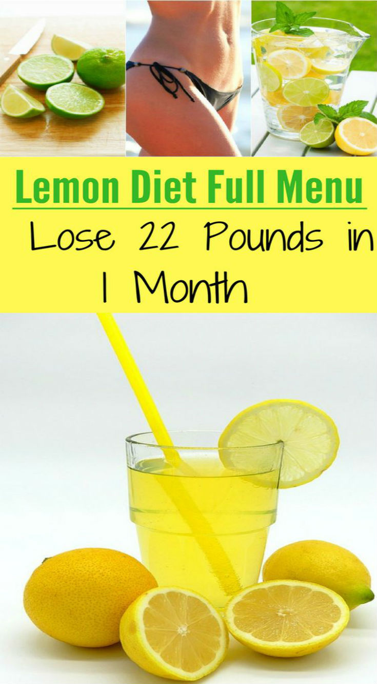 The Full Menu Of The Lemon Diet That Allows You To Lose 10 Kg…