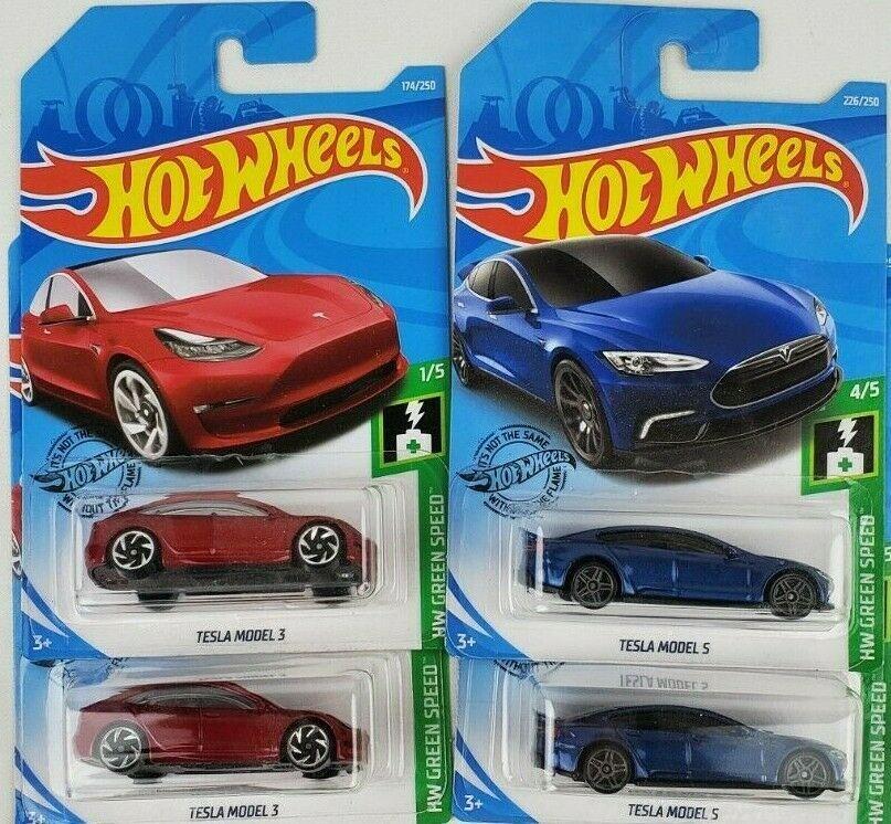 Hot Wheels Tesla Model 3 Model S Lot Of 4 Tesla Tesla Model Hot Wheels