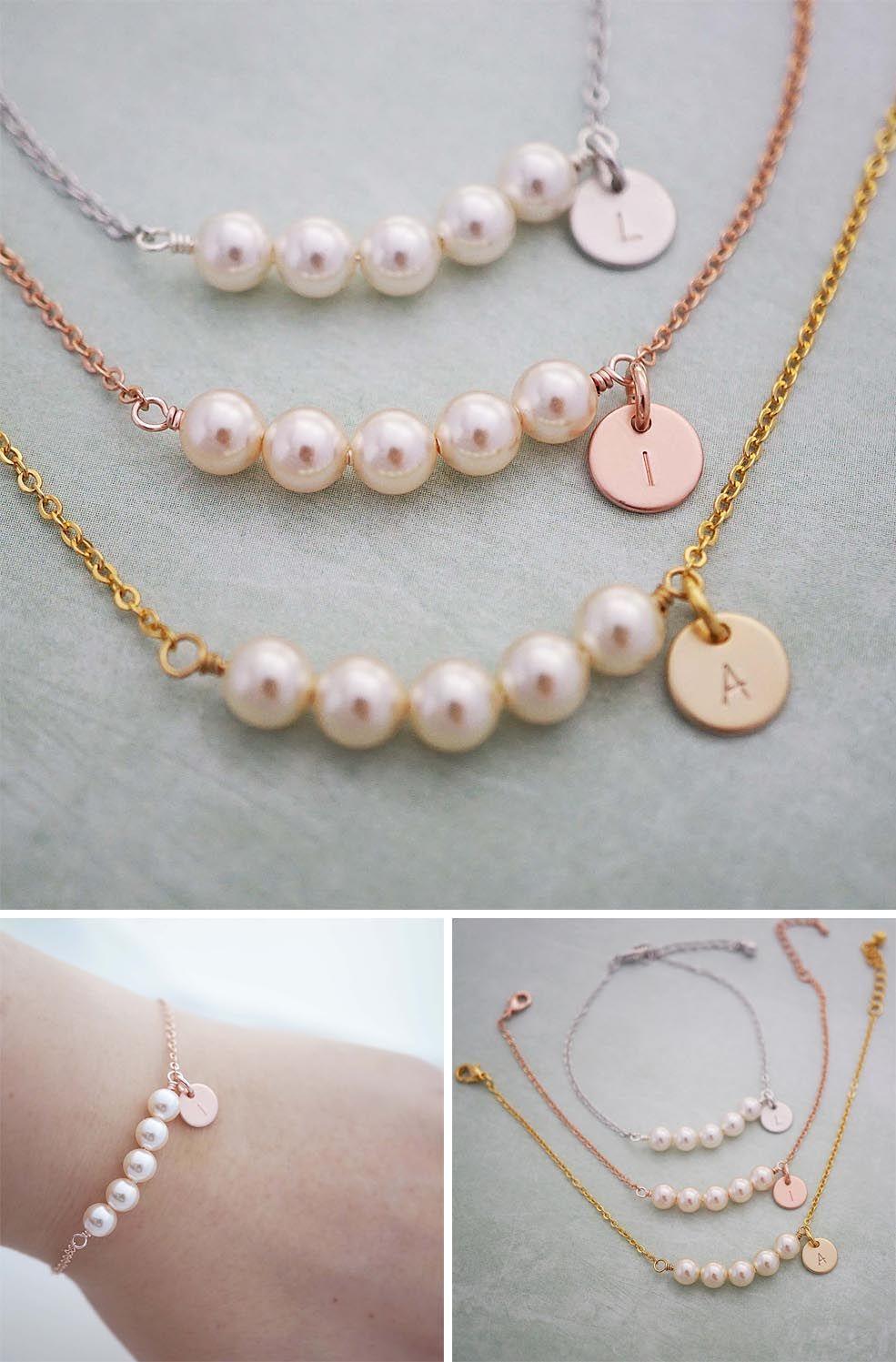Swarovski Pearl Bracelet Personalized
