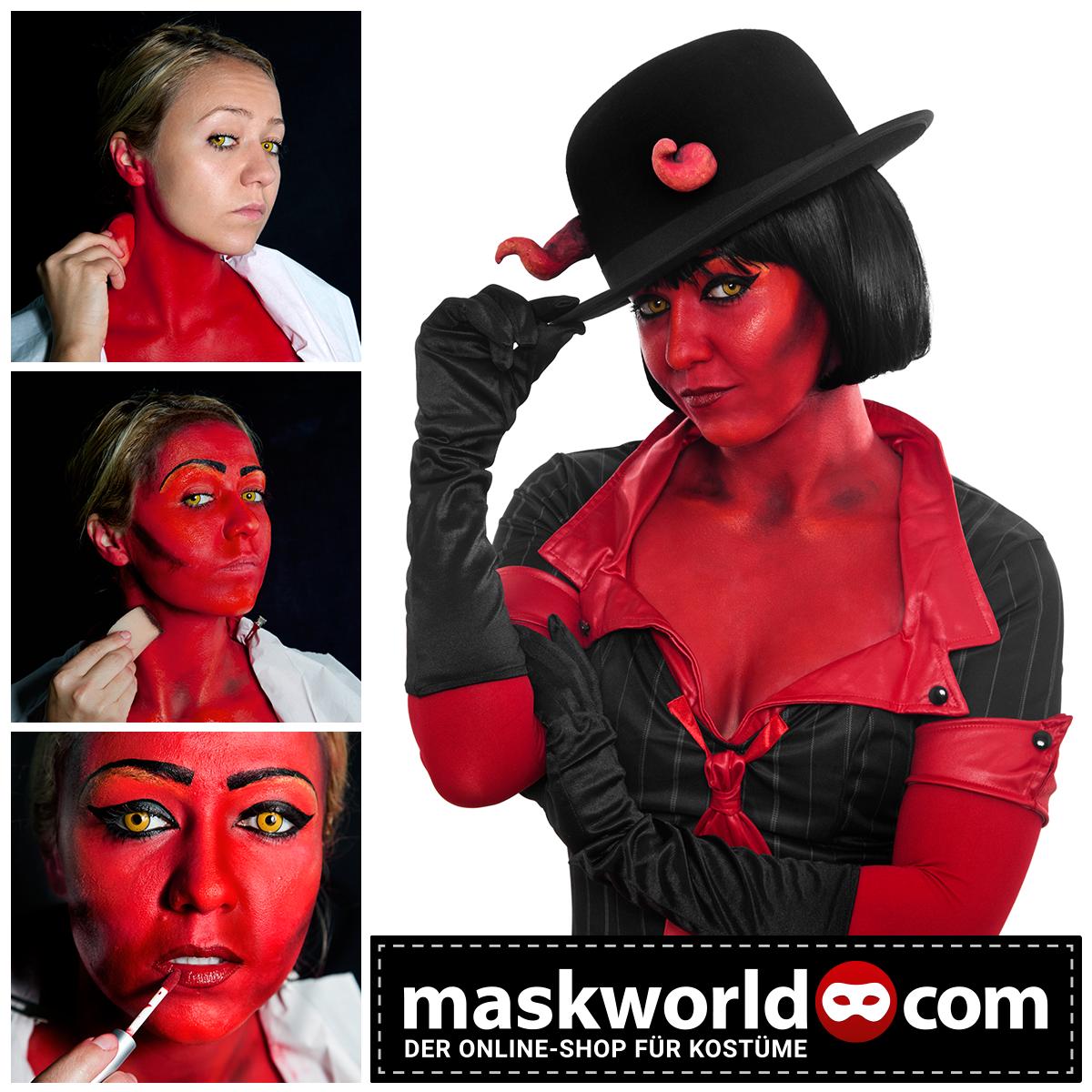 halloween horror makeup mua devil teufel devilwoman teufelin sexy red satan. Black Bedroom Furniture Sets. Home Design Ideas