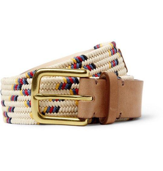 Folk Buckley Zigzag Elasticated Belt