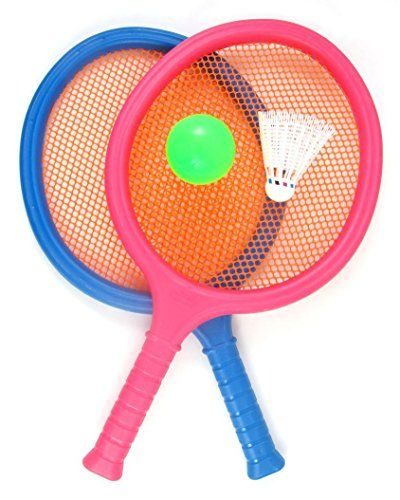 Ampersand Shops Toy Badminton And Tennis Play Set With Easy To Grip Colorful Rackets Want To Know More Badminton Set Sports Games For Kids Badminton Racket