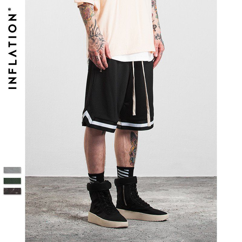 Inflation Basketball Shorts Mens Outfits Vintage Mens Fashion Mens Streetwear