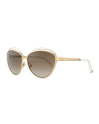 2ac5e84ca92f Golden+Metal+Butterfly+Sunglasses+with+Wire