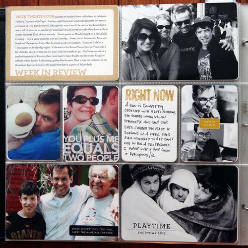 Project Life, Week Twenty-Four-Cathy Zielske-Love her work!
