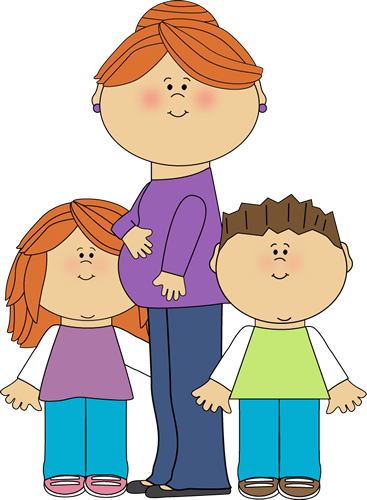 Emma's mom, Emma, and Emma's brother, Evan | Kids clipart