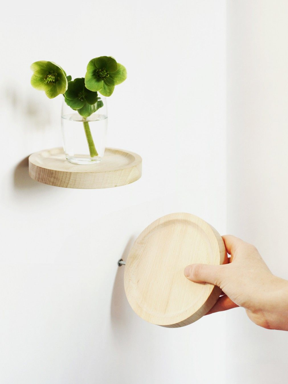 Balcon Natural Little Shelf To Screw In Beech Decoration