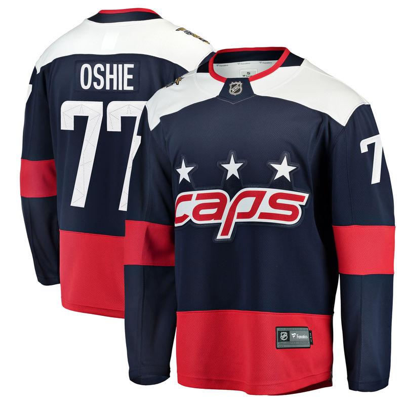 TJ Oshie Washington Capitals Fanatics Branded 2018 NHL Stadium Series  Breakaway Player Jersey – Navy 099157157c2b