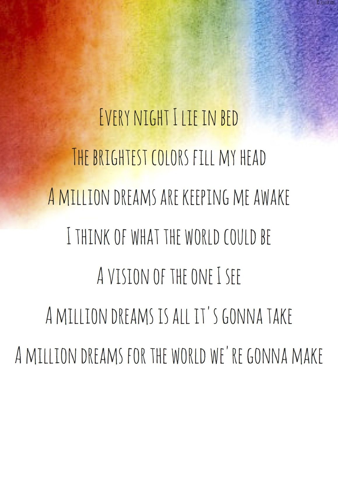 image relating to A Million Dreams Lyrics Printable named A million wishes- the most important showman lyrics estimates