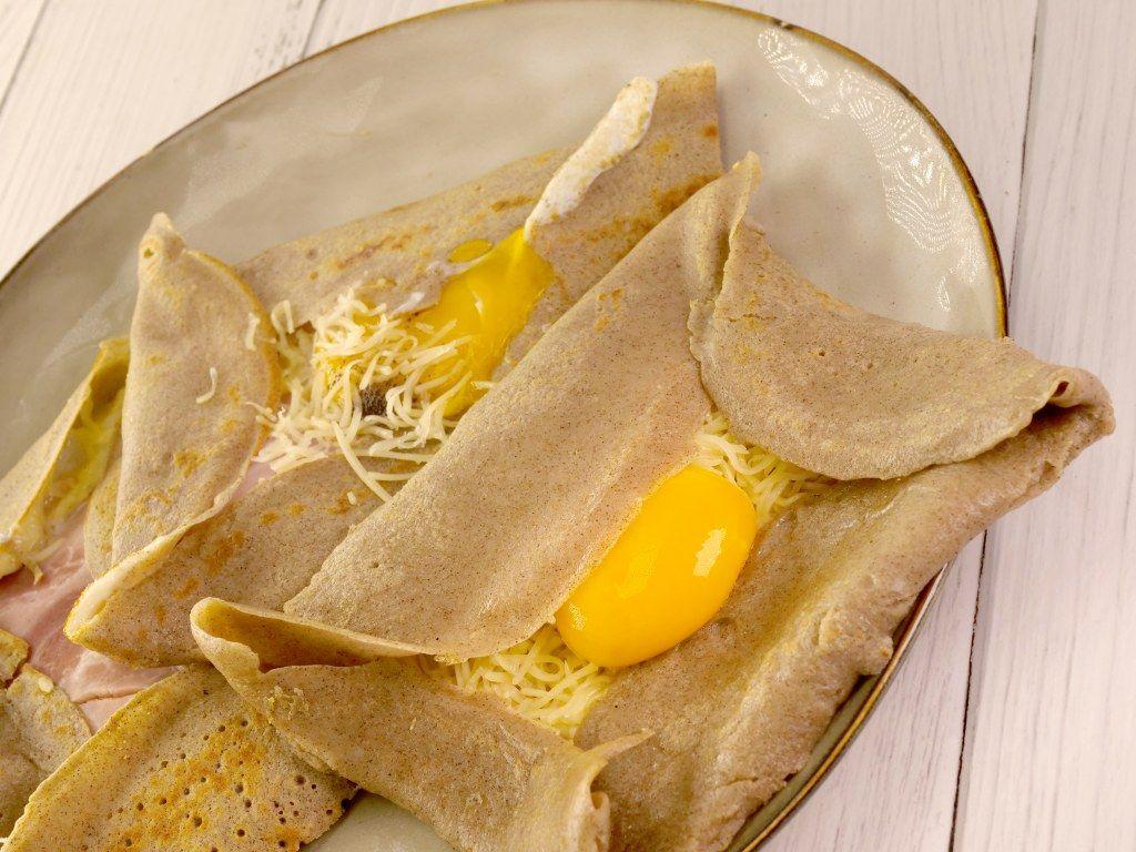 Crêpes Au Sarrasin Farcies à L Oeuf Fromage Et Jambon Recette Recettes De Cuisine Crepe Sarrasin Recette Crepe Au Sarrasin