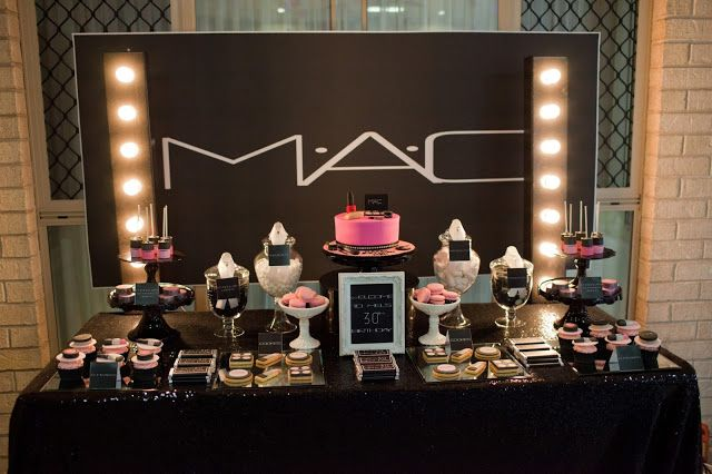 Mac Inspired Makeup Party By Perfectly Sweet Lollie Buffet Dessert