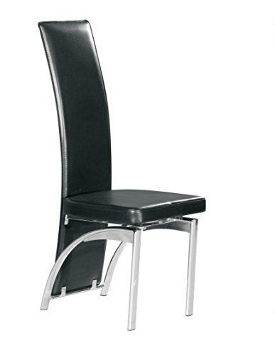 Exceptionnel Faux Leather Foam Padded Dining Chairs In Black With Chrome Leg 7 Star  Furniture