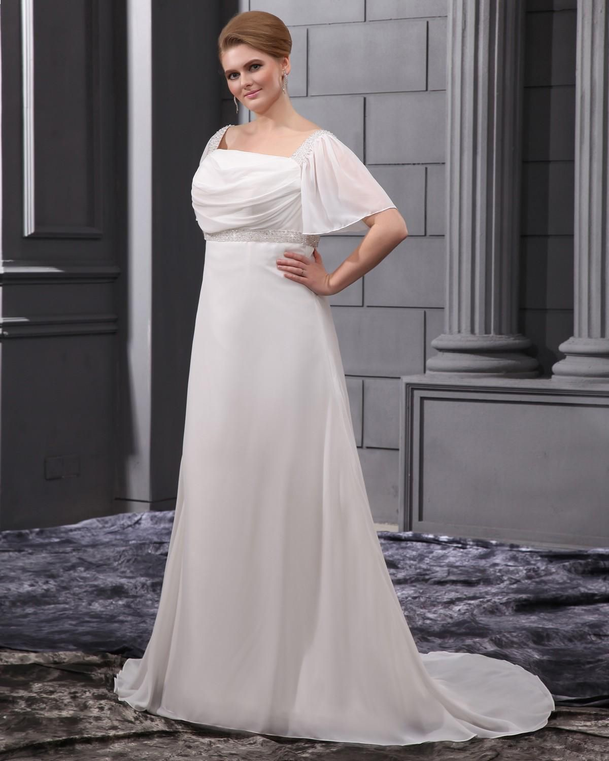 Maternity casual wedding dress  Beading Sash Court Plus Size Bridal Gown Wedding Dress  Wedding