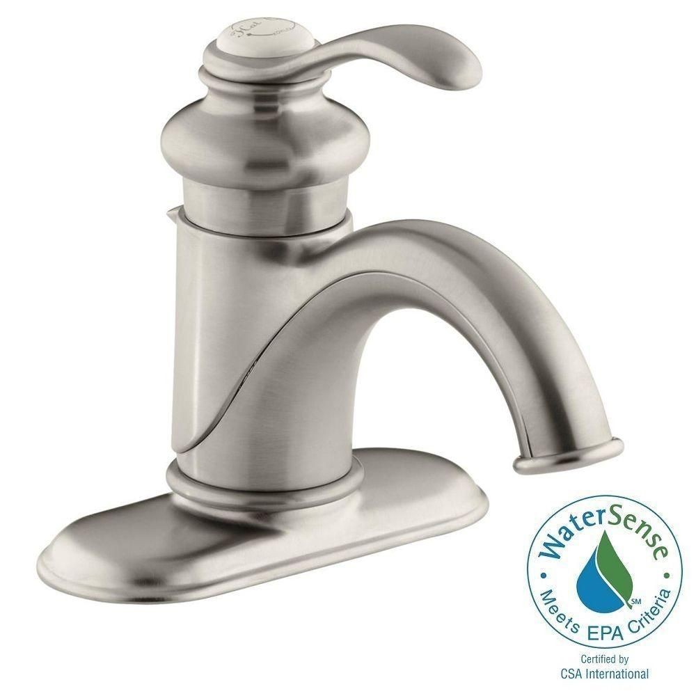 KOHLER Fairfax Single Hole Single Handle Low-Arc Water-Saving ...