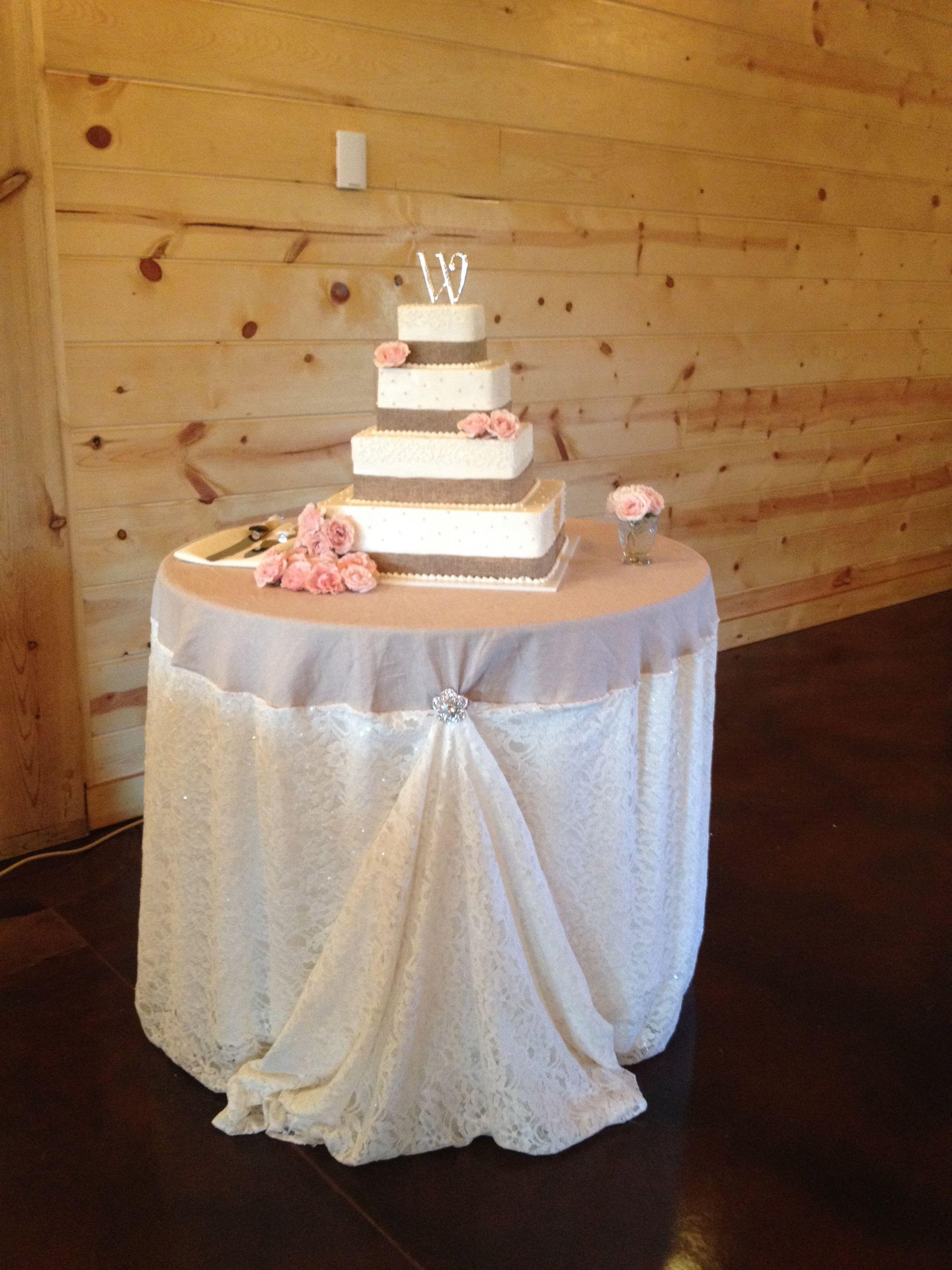 Country wedding cake table & Country wedding cake table | Casey u0026 Courtneyu0027s Wedding ...