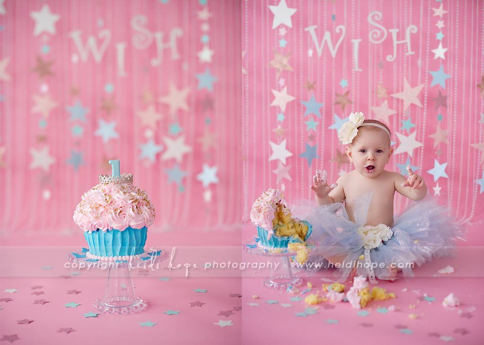 The Stars Garland In The Background Baby Cake Smash 1st