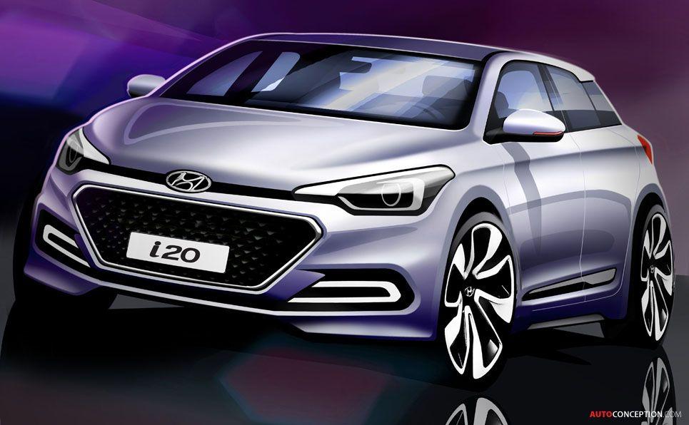 New Hyundai I20 Previewed In Design Sketches New Hyundai