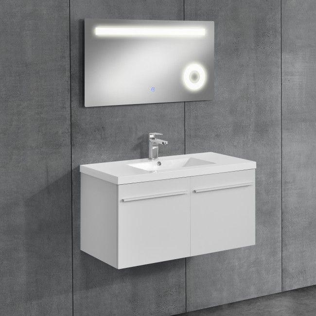 Neu Haus Badezimmerschrank Mit Waschbecken Spiegel Badmobel