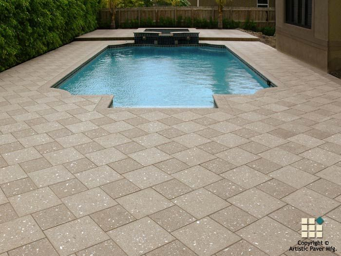 Shellock atlantic series pavers and coping in the color for Pool design pattern