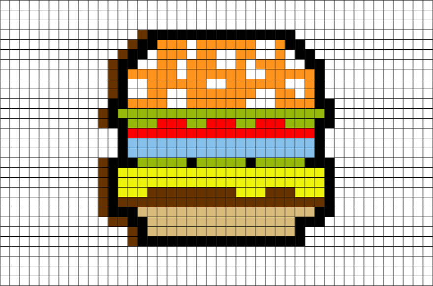 Hamburger Pixel Art Pixel Art Lego Art Pixel Art Design
