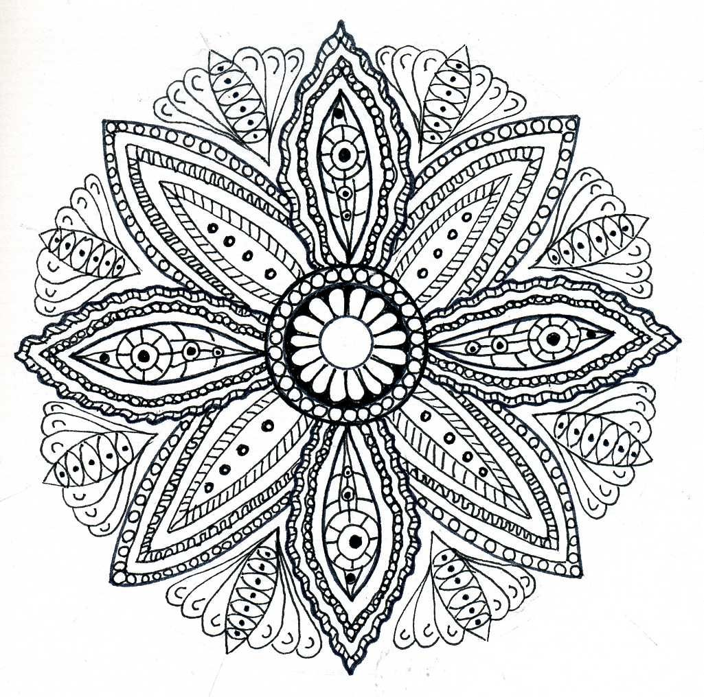Mandala Healing Colouring Pages For AdultsPrintable