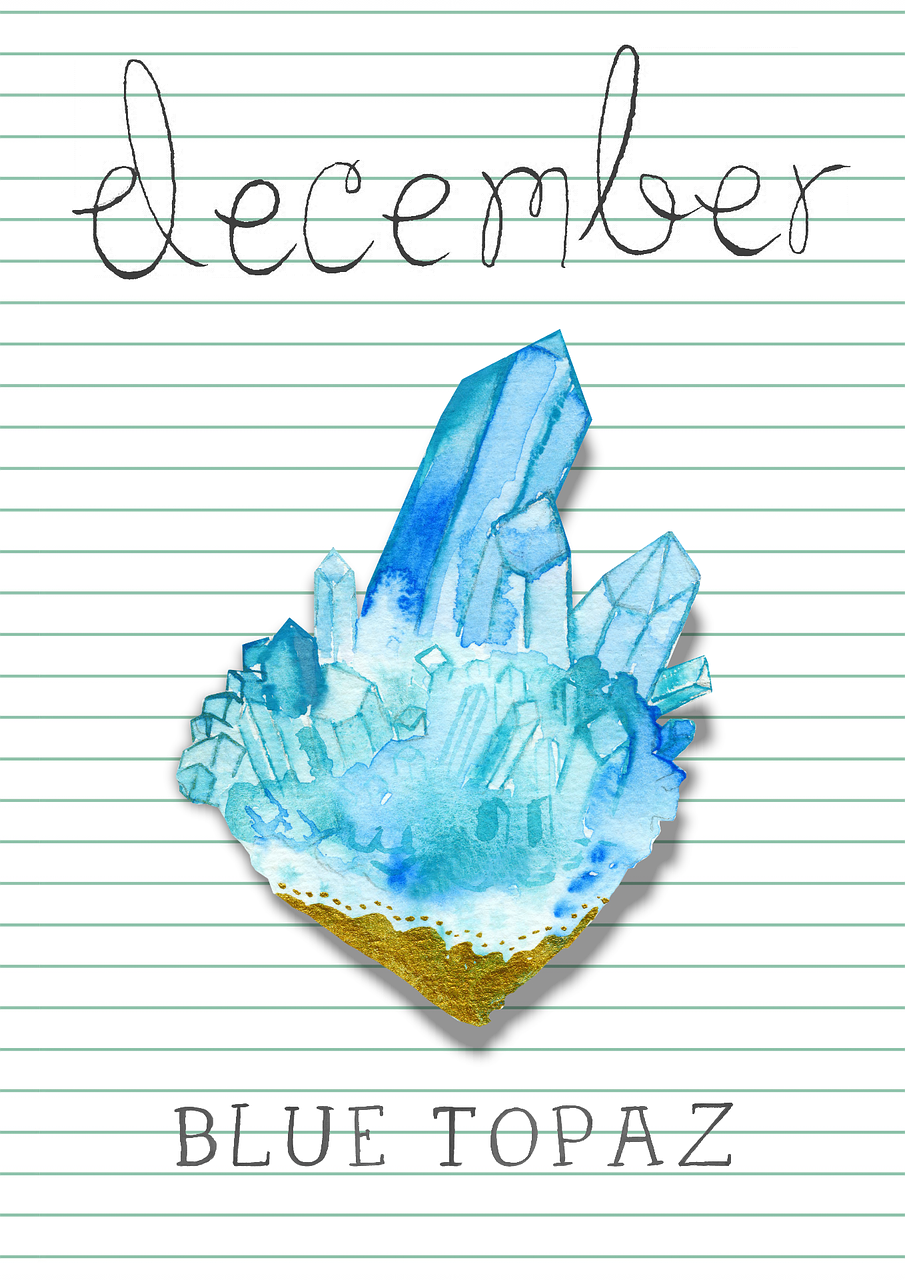 Free Image On Pixabay Birthstone December Blue Topaz That S Me