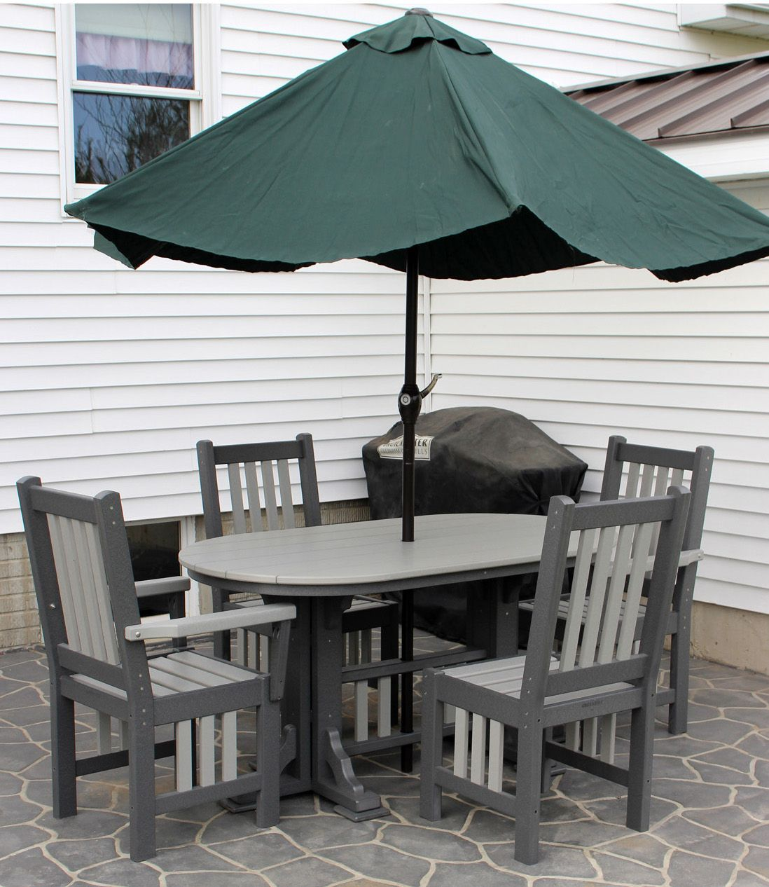 Polywood Mission Oval Table In 2020 Oval Table Patio Modern